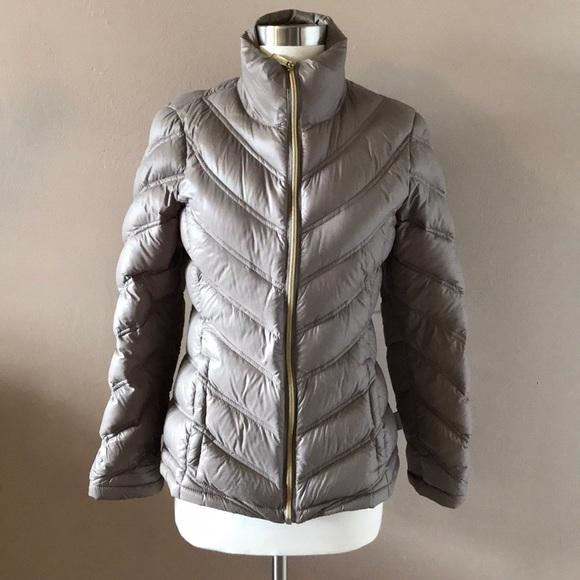 3b0ed76ff3b Calvin Klein Jackets & Blazers - Calvin Klein Taupe Packable Down Jacket